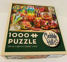1000 pc Cobble Hill Candy Jars Jigsaw Puzzle Complete lollipops jelly beans gum