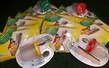 Kinder-Mal-Set 6 Pinsel Malschürze Pinselauswascher Mischpalette + Farben Schule