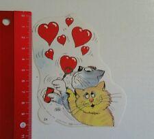 Aufkleber/Sticker: Katzen - Herz - Stein (23051667)
