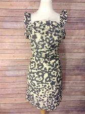 Annelore Size 6 Gray and Cream Babydoll Print Sundress Size 6
