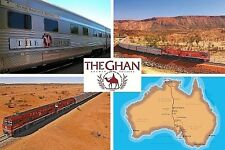 SOUVENIR FRIDGE MAGNET of THE GHAN TRAIN AUSTRALIA