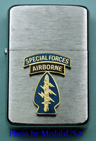 SPECIAL FORCES AIRBORNE WIND PROOF PREMIUM LIGHTER IN A GIFT BOX ARMY SBC071