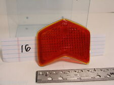 """Vintage Auto Chevron # 925 Red Glass Tail Light lens 4-1/4"""" X  3"""" with 1/8"""" lip"""