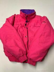 Womens POWDERLINE Pink Vintage Ski Snowboarding Gore Tex Z Liner Jacket Sz L