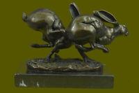 Bronze Sculpture, Hand Made Statue Animal Vienna Austrian Bunny Rabbit Hare SALE