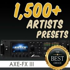 ✪ Fractal AXE FX 3 The Artists Collection v2.0 ✪ 1,500+ quality presets