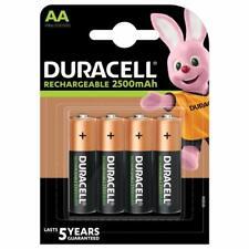 Pack 4 pilas recargables Duracell HR6 AA 2500mAh 1.2v NiMH Niquel Metal Hidruro