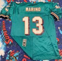 VTG 90's Starter Miami Dolphins Dan Marino NFL Jersey Men's SZ 52 Teal Rare