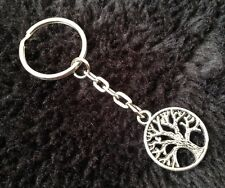Silver Tone Tree Of Life Keyring / Bag Charm, Keychain, Gift
