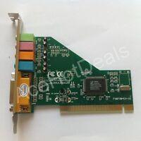 New 4 Channel 5.1 Surround 3D PC PCI Sound Audio Card w/Game MIDI Port