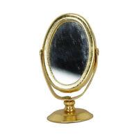 1X( Specchio da toilette in metallo per 1/12 casa di bambole in miniatura d W9M7