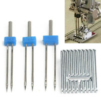 3Pcs Twin Double Needle Sewing Machine Needles Pins W/ 1 pcs Groove Pintuck Foot