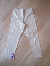 Girl SHINY GOLD GLITTERY stretch leggings pants NWT 6