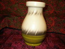 Vintage of Sylvac original 1950s /60s cream/ green/grey vase.