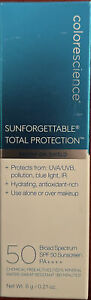 Colorescience Sunforgettable Brush on Sunscreen SPF 50 Deep 0.21 oz Exp 03/2022