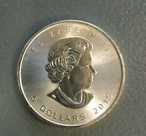 Silver Coin Maple Leaf 2015 1oz fine real and uncirculated