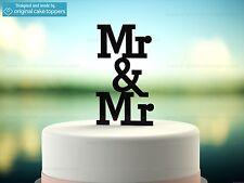 """Mr & Mr"" - Black - Gay Wedding Cake Topper - Made by OriginalCakeToppers"