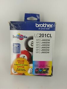 Brother Standard (LC2013PKS) Yield Color Ink Cartridge - 3 Pack 10/2022