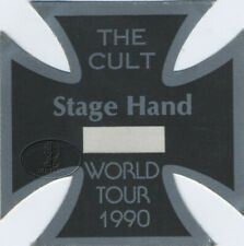 The Cult 1990 Sonic Temple Tour Die-Cut Iron Cross Stagehand