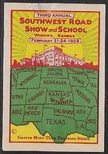 Usa Poster stamp: 1928 3rd Annual Southwest Road Show & School, Wichita - dw428