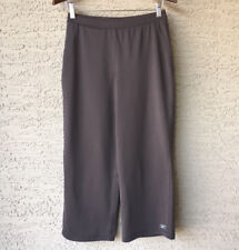 Womens Reebok Play Dry Small Gray Athletic Pants Stretch Wide Leg Crop S