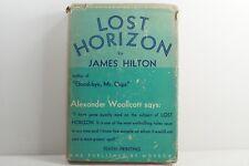 LOST HORIZON by James Hilton - 1st/10th Morrow HCDJ 1934 Hawthornden Ed