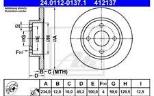 ATE Juego de 2 discos freno Antes 234mm para NISSAN MICRA 24.0112-0137.1