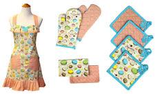 Pacific Coast Textiles 9  Piece Cotton Apron Set - Macarons