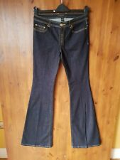 "RRP £155 - RACHEL ZOE JEANS Dark Blue Flare 26"" Waist / UK 10 / 36"" Leg TALL NEW"