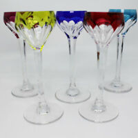 Cut to Clear Multi Color Cordial Liqueur Glasses Set of 5