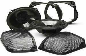 Rockford Fosgate TMS69BL14 6x9 Bag Lid Speaker Audio Kit for 14+ Harley Davidson