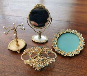 4 Vintage Mirella Dressing Table Items.