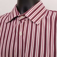 Banana Republic Long Sleeve Button Up Shirt Men's Size Large Red Striped