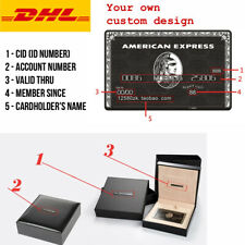 American Express Centurion Black Card w/ gift box Customise your own Amex Metal