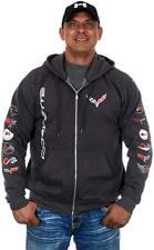 """Chevy Camaro Zip Hoodie Jacket Charcoal Gray Colored Printed Logos   /""""SALE ITEM/"""""""