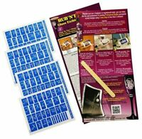 Armour Products Rub 'n' Etch Glass Etching Stencil  ~ Script letters 4 pack