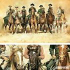 "48W""x30H"" THE MAGNIFICENT SEVEN by RENATO CASARO - WESTERN MOVIE COWBOYS CANVAS"