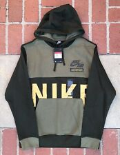 Nike Sportswear Club Pullover Hoodie Size LARGE Mens Olive Sequoia CU3513-222