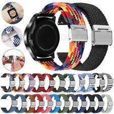 Braided Nylon Loop Strap Wrist Band For Fossil Gen 5 Carlyle HR/Julianna/Garrett