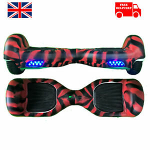 """6.5"""" Red & Black Silicone Protective Segway Hoverboard cover"""