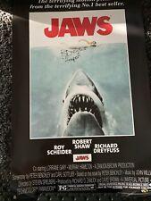 Jaws Movie Poster Signed By Richard Dreyfuss Jsa Coa 24x36 Hooper
