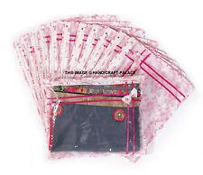 (24 PC)Oneside Clear Plastic Clothes Sari Saree Garment Storage , cover Bags