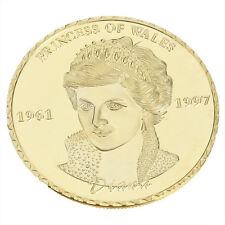 1XDiana Princess Of Wales Rose Gold Commemorative Coin Collectible Gift^