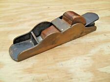 EARLY BRONZE LOW ANGLE BLOCK PLANE , IRON IS MARKED W. JESSOP & SONS