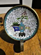 "Vintage-Miniature Chinese ""Floral Vase"" Design-Cloisonne Trinket Tray-Dish-Plate"