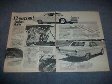 """1963 Dodge Dart Vintage Drag Car Article """"12-Second Budget Mopar"""""""