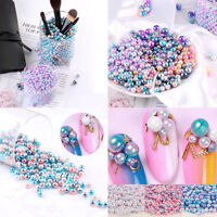 250pcs Simulation Pearl Mixed Color No-hole Loose Beads DIY Craft Jewelry Making