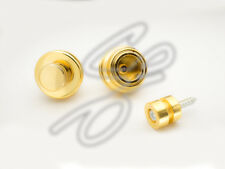 Pair Of Guitar Gold  Strap Lock Straplock Button, More Secure Than Schallers