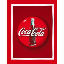 NEW LARGE COKE COCA COLA BOTTLE COTTON PANEL FOR QUILTS & HOME DECOR