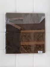 """NEW! Organza Tablecloth Holiday Christmas Linens Tassel Brown 52"""" Square Decor"""